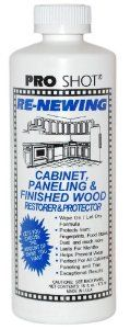 Amazon.com: Pro Shot Industrial Re-Newing Cabinet Paneling and Finished Wood Restorer & Protector- 16-ounce bottle (covers approximately 300 square feet): Home & Kitchen