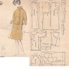 Dress- jacket- scarf. Twisted pattern.