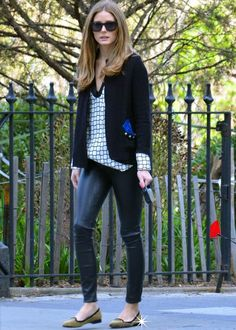 THE OLIVIA PALERMO LOOKBOOK: Olivia Palermo takes Mr. Butler on a walk in New York City.