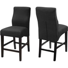 Coaster Company Counter Height Chair Cappuccino Finish with Black Upholstery Fabric
