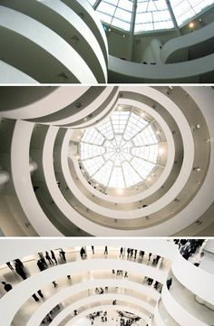 Inside the Guggenheim Museum - located next to New York City's Central Park