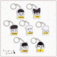 BTS / Bangtan Boys Acrylic Hiphop Monster Key Ring Chain
