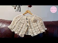 Capas a crochet Crochet Baby Poncho, Crochet Vest Pattern, Crochet Cape, Crochet Collar, Crochet Stitches Patterns, Crochet Granny, Crochet Shawl, Crochet Designs, Knit Crochet