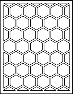 hexagon die from Papertrey Ink Kirigami, Hexagon Cards, Bullet Journal Printables, Stencil Patterns, Scan And Cut, Scrapbook Supplies, Clear Stamps, Paper Cutting, Die Cutting