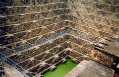 From the blog post:  Chand Baori was built in the 9th Century and is the world's deepest step well.  You had to be in top shape to walk back up those stairs with buckets of water.