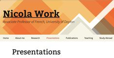 """""""iPad and Web Mania: Tools for Language Proficiency"""" Nicola Work. """"iPads in Language Classes? Student Perceptions and Reactions"""" Research Presentation, Language Classes, University Of Dayton, Language Proficiency, Web 2, Associate Professor, Ipads, Study Abroad, Perception"""