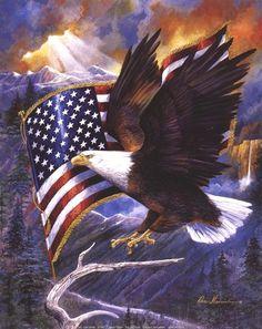 America's Pride Art Print by Ruane Manning