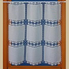 Macrame Lace Cafe Curtains Tier Curtains, Lace Curtains, Lace Valances, Lacemaking, Off Colour, Macrame, Fabric, Pattern, House Ideas