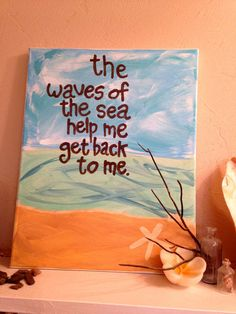 One Of A Kind Ocean Quote Painting. Acrylic by 2islandtimedesigns, $25.00