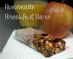 Healthy alternative to cereal or instant oatmeal. Healthy alternative to cereal or instant oatmeal. No Bake Homemade Breakfast Bars, Breakfast Bars Healthy, Healthy Bars, Healthy Food Options, Healthy Dishes, Eat Breakfast, Breakfast Recipes, Breakfast Cereal, Yummy Food