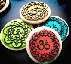 Om Henna Cookies by SweetWildFlour on Etsy