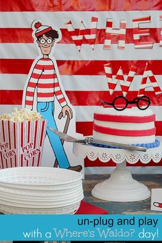 Have a fun Where's Waldo day with activities, food, and geocaching #unplug2play