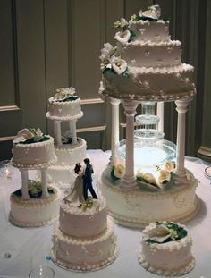 Great And Outstanding Wedding Cakes With Fountains Elegant Stairs