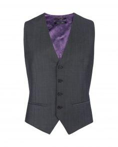 Ted Baker vest - unfortunately its purple silk on the back side.