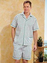 2-Pc. Plaid Tee & Shorts Pajama Set | Haband