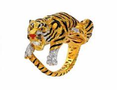 Tiger ring by Anna Hu