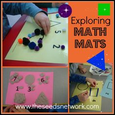 Using math mats in preschool@ The SEEDS Network Other good ideas for science (apples, pumpkins, etc.,)