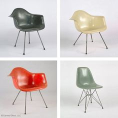 Charles and Ray initially offered their #Eames Fiberglass Chair in just three colors. In our latest Details Blog (click our bio link), learn how the husband-and-wife team chose them and why they didn't expand the color selection until the design grew in popularity. @hermanmiller #detailsblog #fiberglass