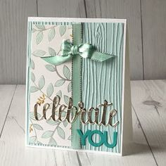 Blends used to color the Springtime Foils paper and ribbon
