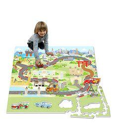 Look at this #zulilyfind! Cars Puzzle Play Mat by Disney #zulilyfinds