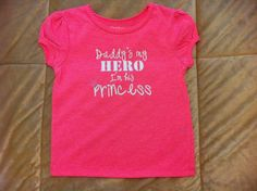 Daddy's my hero tshirt by CerberusClothing on Etsy, $10.00
