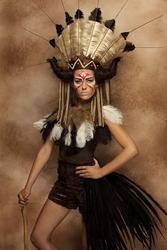 Native American theme. - The Avant Garde Hair Stylings of Arnostyle..I wish the dreads were replaced by feathers, but still this is amazing!