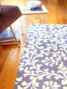 Painted Canvas decorative rug