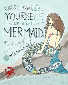 Aww, to be a mermaid!