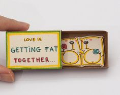 Tarjeta divertida del amor / tarjeta de aniversario por 3XUdesign