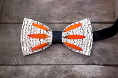 A unique twist to the groomsmen bow tie from Brackish.