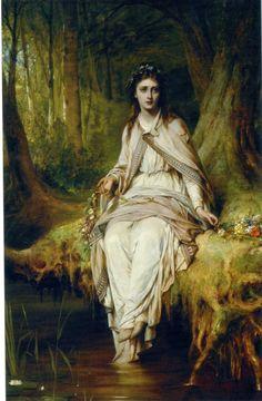 Ophelia - Thomas Francis Dicksee  c.1875