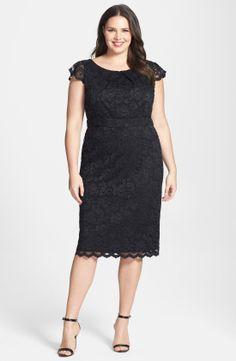 ABS by Allen Schwartz Lace Pencil Dress (Plus Size) | Nordstrom