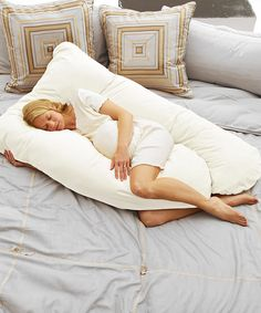 Look at this Today's Collection White Cozy Comfort Pregnancy Pillow on #zulily today!