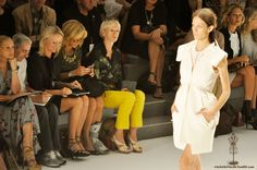 I loved Joanna Cole's yellow pants on Project Runway last week