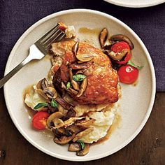 Recipes with Wine | Chicken and Mushrooms with Marsala Wine Sauce | CookingLight.com