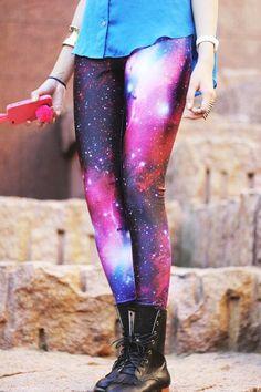 Pink Galaxy Tights | via Tumblr