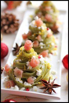 We like this Christmas Pasta Tree ! クリスマスツリーのパスタの画像:ビジュアル系フード