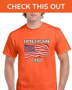T-Shirts for Men 4th Of July American DAD US Flag Men's Funny Tees Round Neck Shirts(Orange,Small) - Cities countries flags shirts (*Amazon Partner-Link) https://www.fanprint.com/stores/american-dad?ref=5750