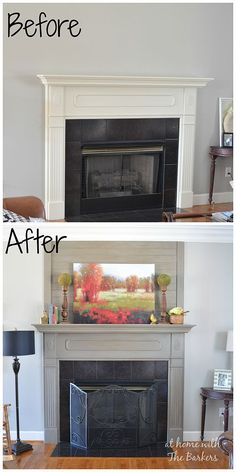 How+to+Add+Wood+Plank+for+a+Mantel+Makeover