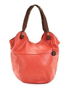 The Sak Handbag-- Leather Tote - Melon. I just bought this handbag.  It's so light weight - I love it !!!