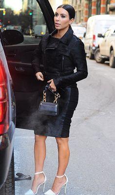 "kimkardashianfashionstyle: ""January 8, 2015 - Kim Kardashian out in NYC. """