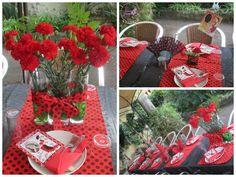 Decoración mesa Flamenca