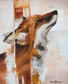 Portrait Art, Pet Portraits, Fox Painting, Simple Acrylic Paintings, Oil Painters, Fox Art, Equine Art, Wildlife Art, Animal Paintings