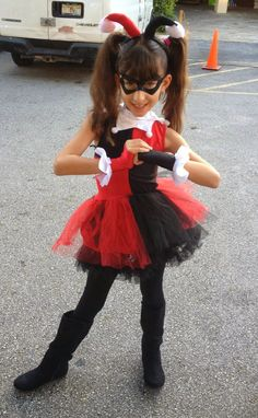 kids harley quinn costume | bloody ghost but I hate scary costumes and will try to keep the kids ...