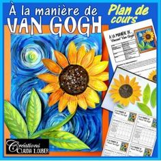 In the Style of Vincent Van Gogh, Spring: Art. by Art with Creations Claudia Loubier Unique Art Projects, Spring Art Projects, Projects For Kids, Project Ideas, Art Lessons For Kids, Art For Kids, Vincent Van Gogh, Van Gogh Art, Unique Paintings