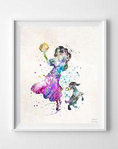 Esmeralda Print arte acuarela Esmeralda jorobado por InkistPrints