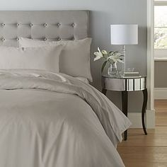 Crafted from a soft, cotton rich blend, our sateen duvet cover has a 200 thread count and comes in a denim blue colourway. This duvet cover is machine washable and available in a range of sizes. Flat Sheets, Bed Sheets, Natural Duvet Covers, Types Of Beds, Duvet Cover Sizes, Bedding Collections, Comforter Sets, Linen Bedding