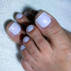 """Francesinha using """"Polar"""" from Impala, """"Bianco Puríssimo"""" from Risqué at the tips, … - Best Trend Nails Swag Nails, Fun Nails, Chicken Dinner For Two, Smoothie Cup, Living Room Entertainment Center, Summer Toe Nails, Manicure E Pedicure, Toe Nail Art, Craft Organization"""