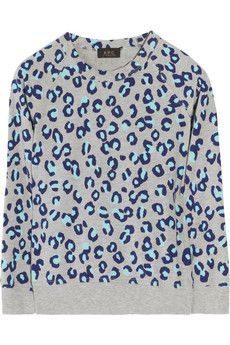 I find it impossible to resist leopard print, so have a soft spot for this A.P.C. sweatshirt.