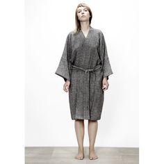 muku - washed linen waffle gown